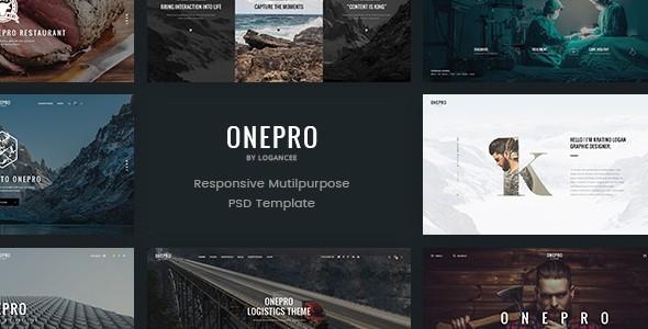 OnePro - Creative Multipurpose PSD Template