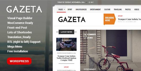Ecota - Premium Magazine PSD Template - 9