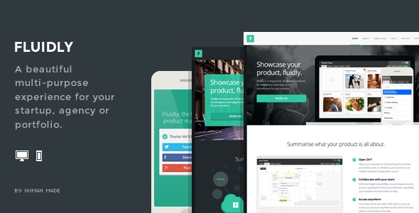 Fluidly - A Multi-Purpose PSD Template.