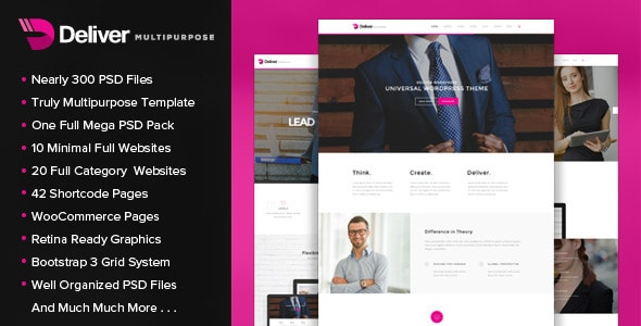 Deliver - Multipurpose PSD Template