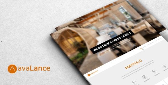 AvaLance - Creative PSD One Page Portfolio Template