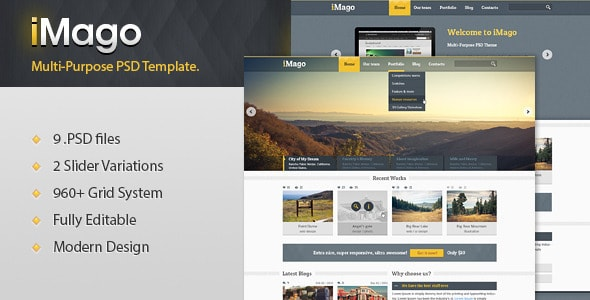 Imago - Multi Purpose PSD Template