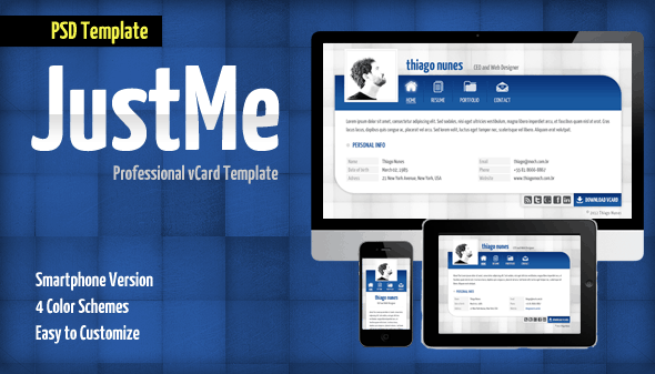 JustMe Professional vCard