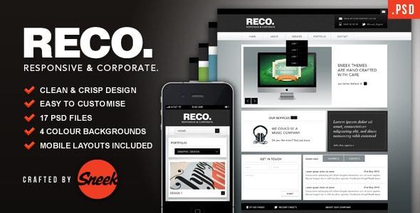 RECO - Corporate PSD Template