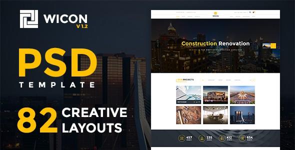 WICON | Construction & Building PSD
