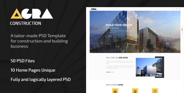 Agra | Construction Business Template