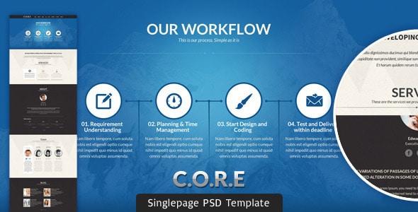 CORE - Multipurpose Single Page PSD Template