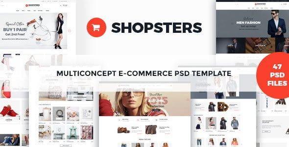 Shopsters - Multiconcept E-commerce PSD Template
