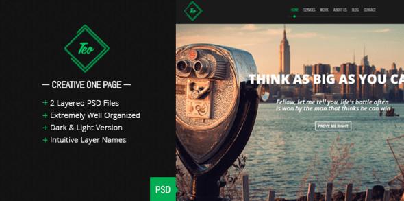 Teo - Single Page PSD Template