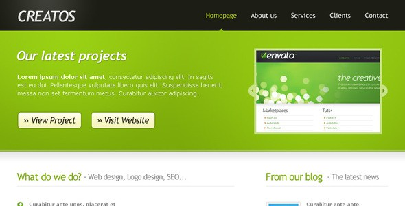 Creatos - Clean & Sytlish Website Layout
