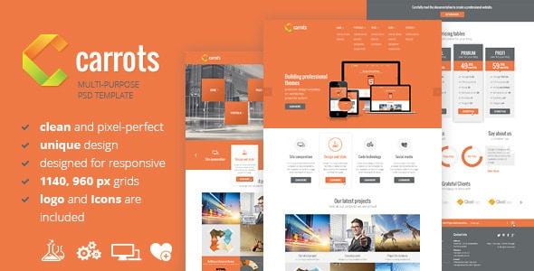 Carrots - PSD Template