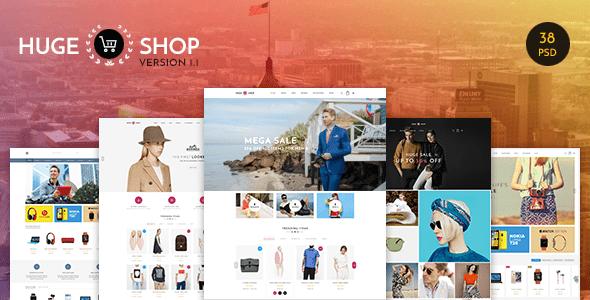 HUGESHOP - Wonderful Multi Concept eCommerce PSD Template
