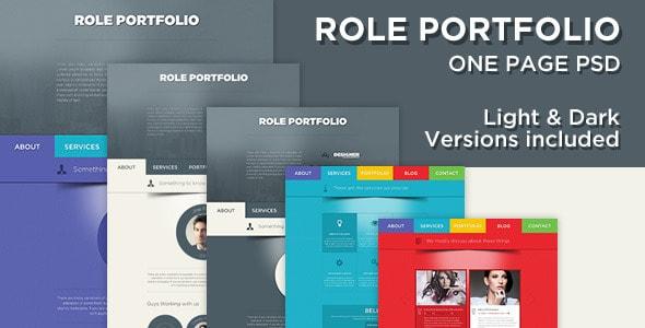 Role - One Page Portfolio PSD Template