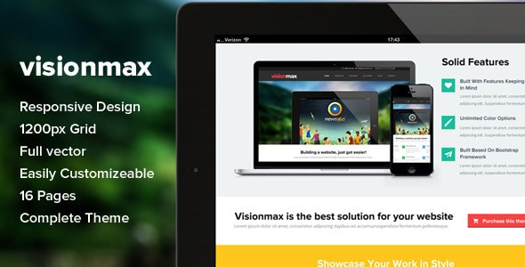 Visionmax - Multipurpose PSD Template