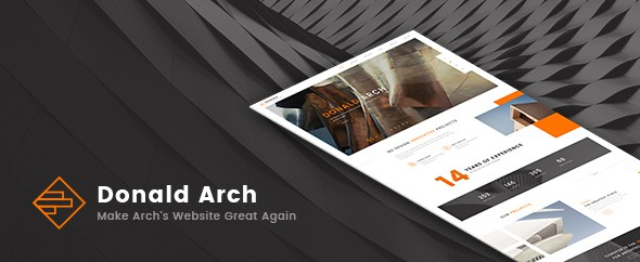 Donald Arch - Make Architecture PSD Great Again