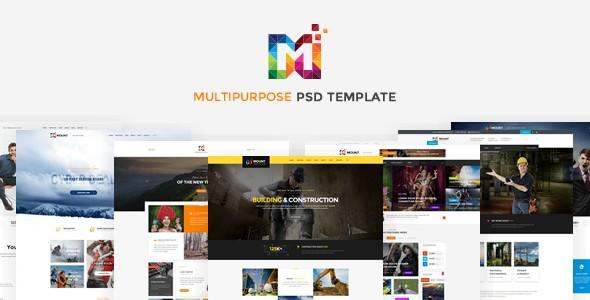 Mount - PSD Template