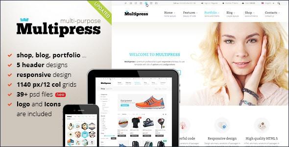 Multipress - PSD Template
