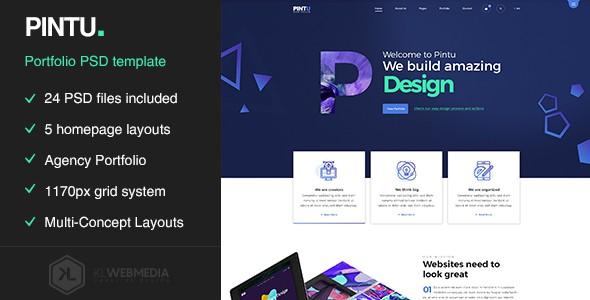 Pintu - Portfolio PSD template