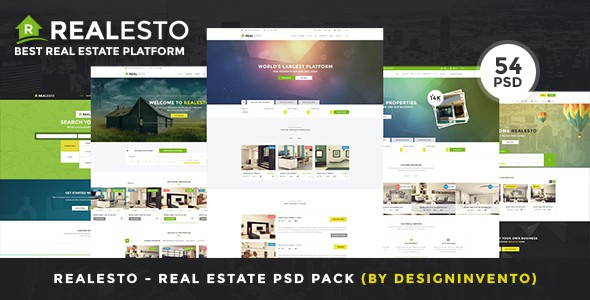 Realesto - Real Estate PSD Pack