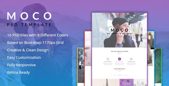 Moco Agency - Creative One Page Template