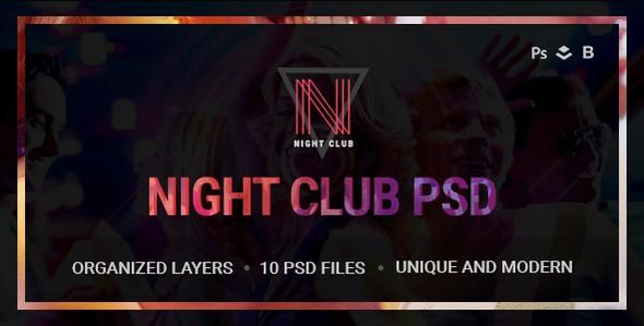 Night Club - Event, DJ, Party, Music Club PSD Template
