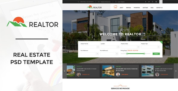 Realtor | Real Estate PSD Template
