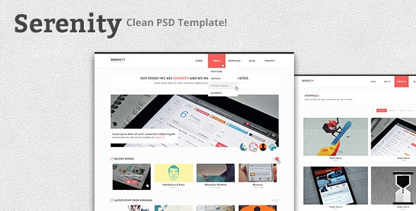 Serenity - Clean PSD Template