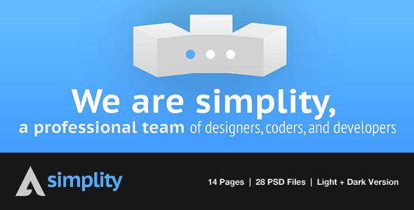Simplity: Portfolio PSD Theme - Light/Dark Version