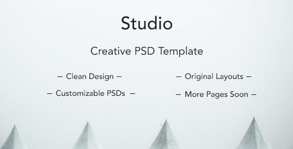 Studio Clean PSD Template