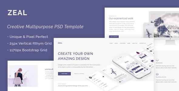 Zeal - Creative Multi Purpose PSD Template