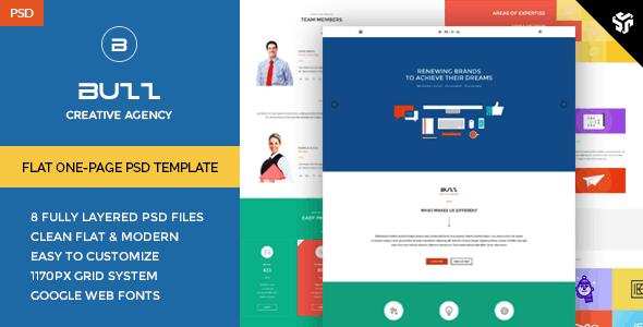 Buzz - Flat OnePage PSD Template