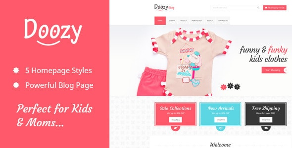 Doozy -  eCommerce & Blog PSD Template