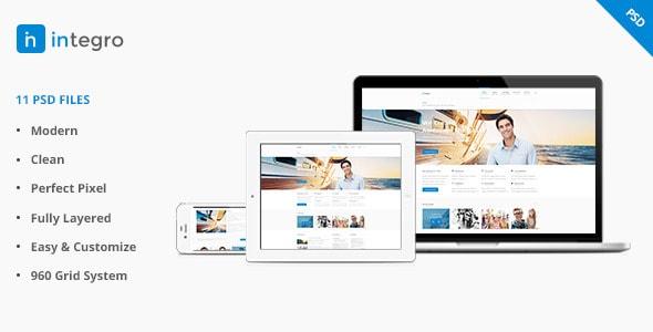 Integro - Portfolio and Blog PSD
