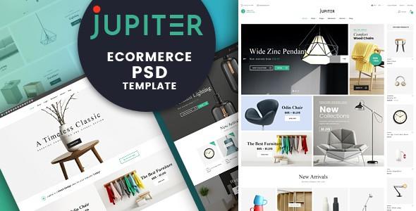 Jupiter Furniture eCommerce PSD Template