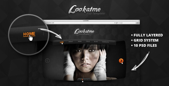 Lookatme - PSD Templates