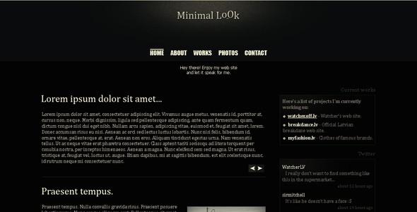 Minimal look web site