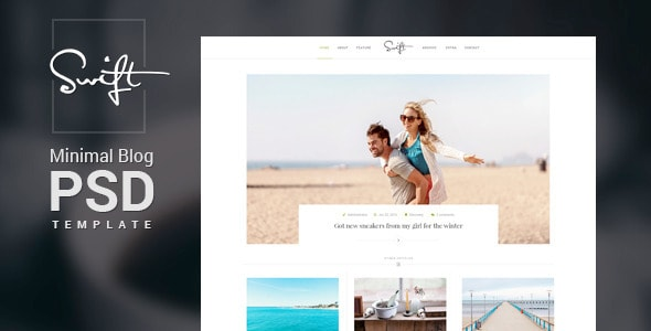 Swift – Minimal Blog PSD Template
