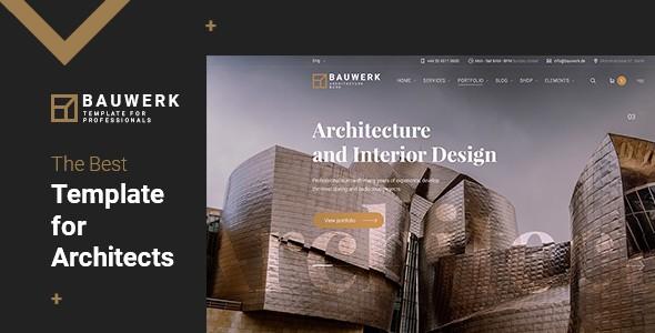Bauwerk   Interior Design & Architecture PSD Template