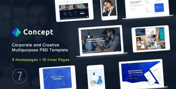 Concept Seven - Corporate and Creative Multipurpose PSD Template