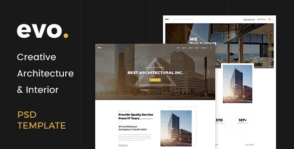 EVO - Creative Architecture & Interior PSD Template