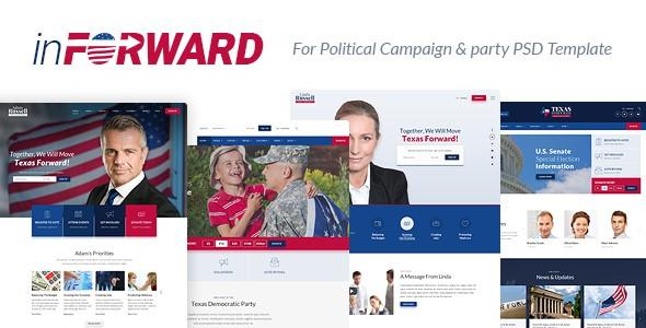 inForward - Political Campaign, Party, Nonprofit PSD Template