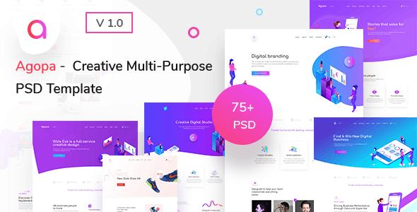 Agopa - Creative Multipurpose  PSD Template
