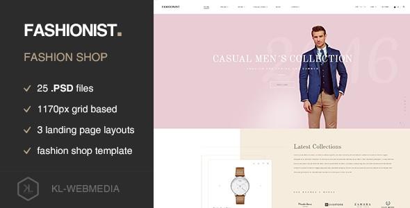 Fashionist - Fashion eCommerce PSD template