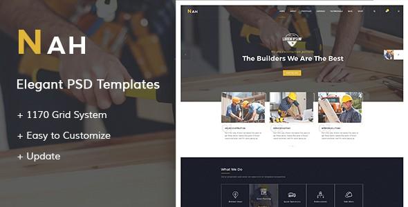 Nah - Construction PSD Templates