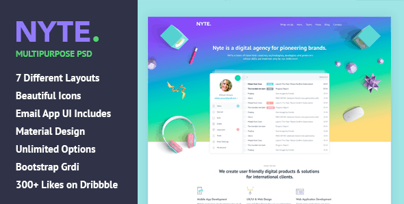 Nyte - PSD Template for Creative Agencies