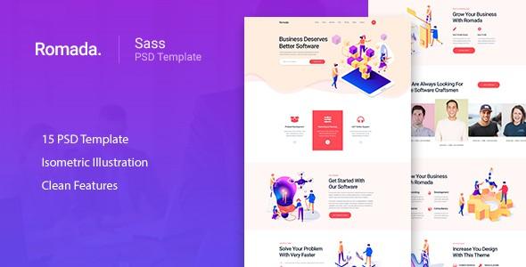 Romada - Startup Agency SasS PSD Template