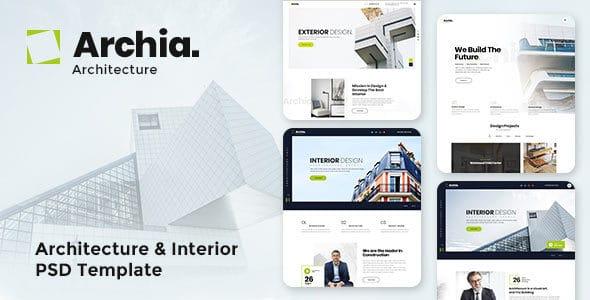 Archia - Architecture & Interior PSD Template