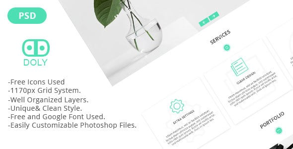 Doly - Creative One Page PSD Template