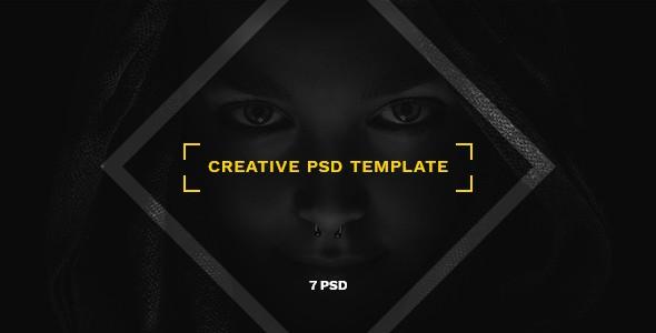 Nagual — Creative Agency, Personal Portfolio PSD Template
