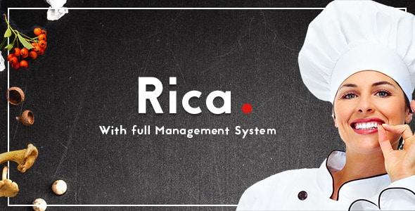 Rica - Multipurpose Restaurant & Cafe PSD Template